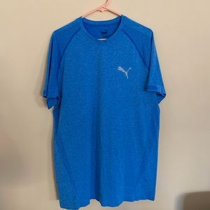 PUMA MEN'S ACTIVE WEAR TOP BLUE XL CREW NECK